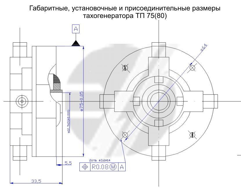 тахогенератора ТП-75-20-0,